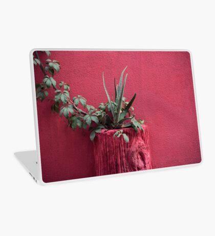 Rosa und Pflanze Laptop Folie