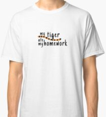 My Tiger Ate My Homework-Calvin and Hobbes Classic T-Shirt