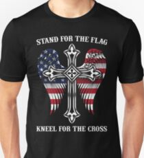 Stand For The Flag Kneel For The Cross Shirt Military Veteran Tee Unisex T-Shirt
