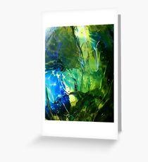 Blue Green Ocean Glass Design Greeting Card