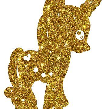 Golden unicorne by kassandry31