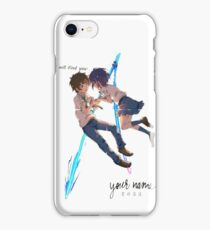 Kimi no Na wa. (Your Name.) - I will find you iPhone Case/Skin