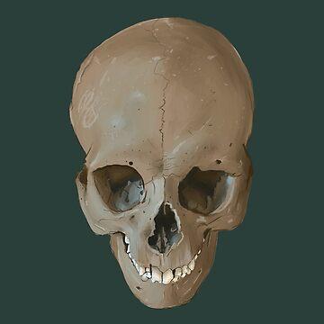 Grinning Skull by EEBlu