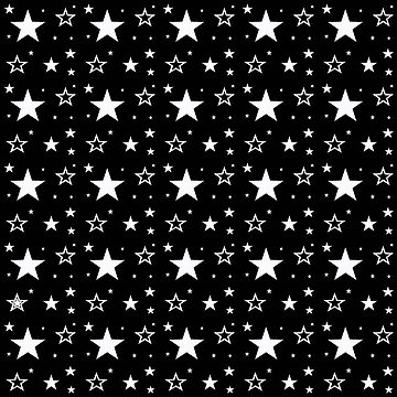 Black and white stars in the sky by kassandry31