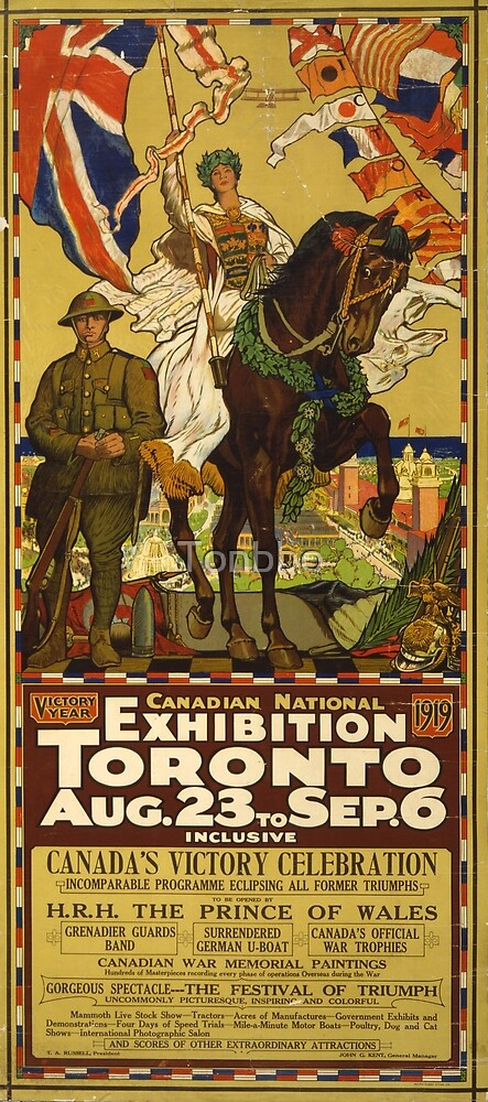 Canadian National Exhibition poster, Toronto, 1919 by Tonbbo