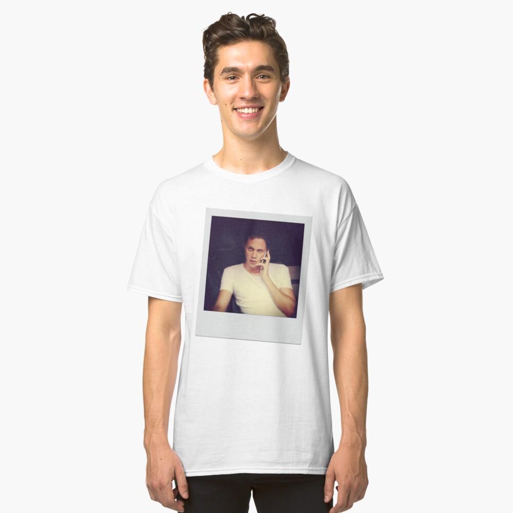 Celebrity: Bill Skarsgard [Polaroid] Classic T-Shirt Front