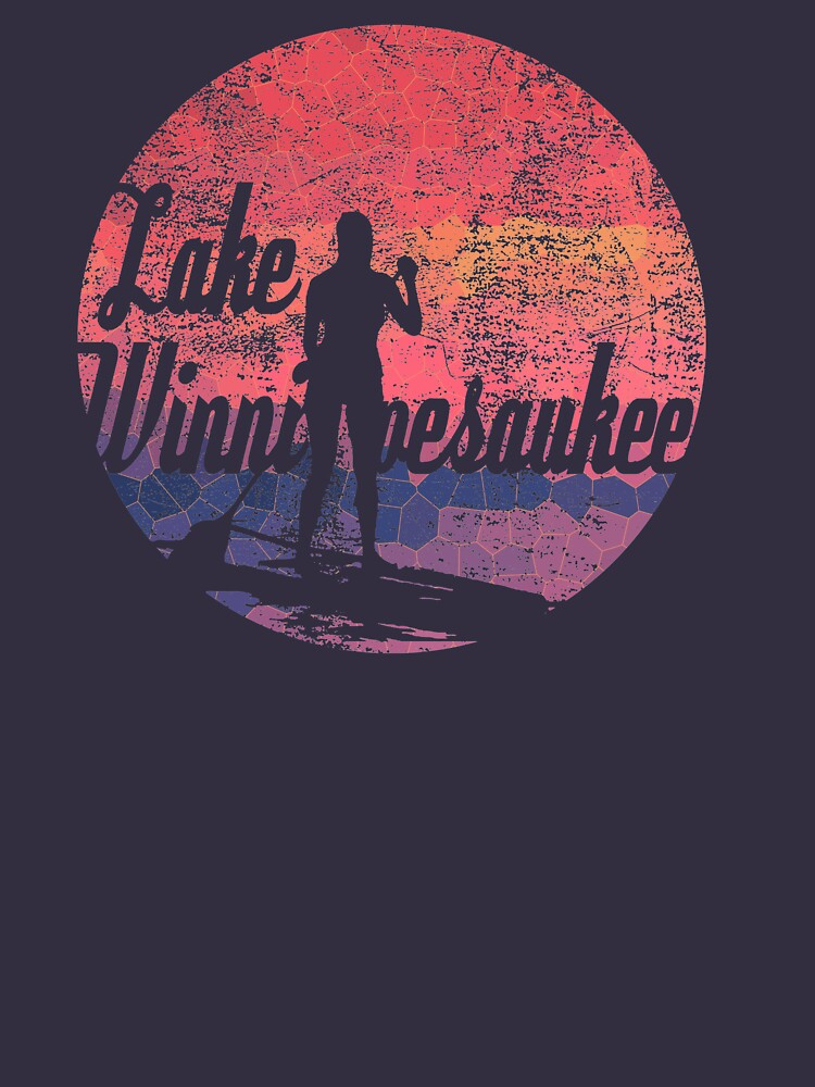 Lake Winnipesaukee Paddleboard T-Shirt by HoodieWoodie
