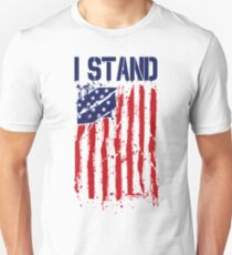 I Stand I Don't Kneel Shirt American Flag Stand For Anthem T-Shirt