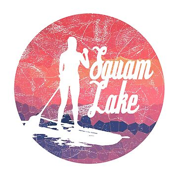 Squam Lake Paddleboard T-Shirt by HoodieWoodie