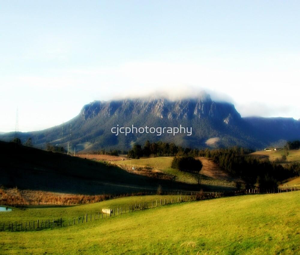 Fog over Mt.Roland - Tasmania  by cjcphotography