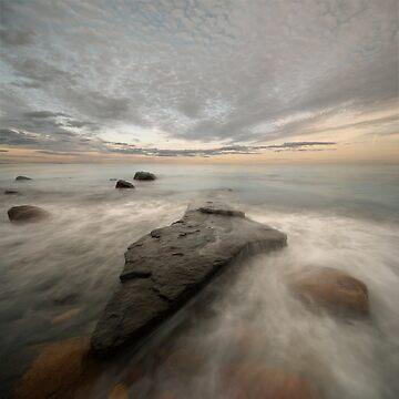 black rock sunset by Hogne