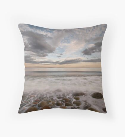 stone beach impressions Throw Pillow