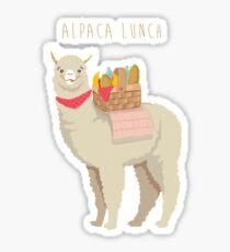 Alpaka-Mittagessen Sticker