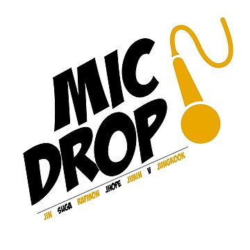 Bangtan Boys BTS Mic Drop- Black  by thinkkpop