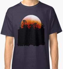 Black Cats On A Fence and Moon Classic T-Shirt