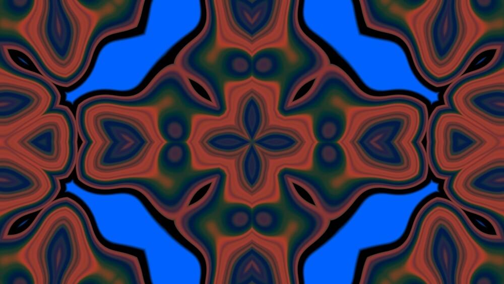 Abstract Modern Pattern Kaleidoscope  by WildUnit