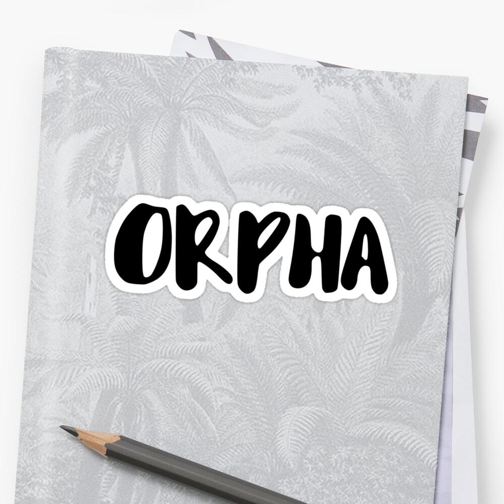 orpha Sticker Front