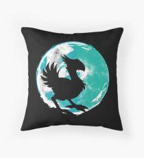 Wark at the Moon Throw Pillow