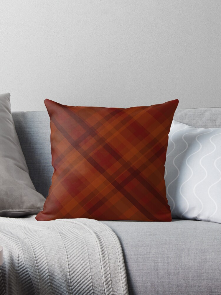 autumn plaid pattern  by Rachel Marilyn Wilde