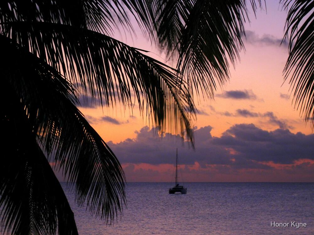 Catamaran in the Caribbean. by Honor Kyne