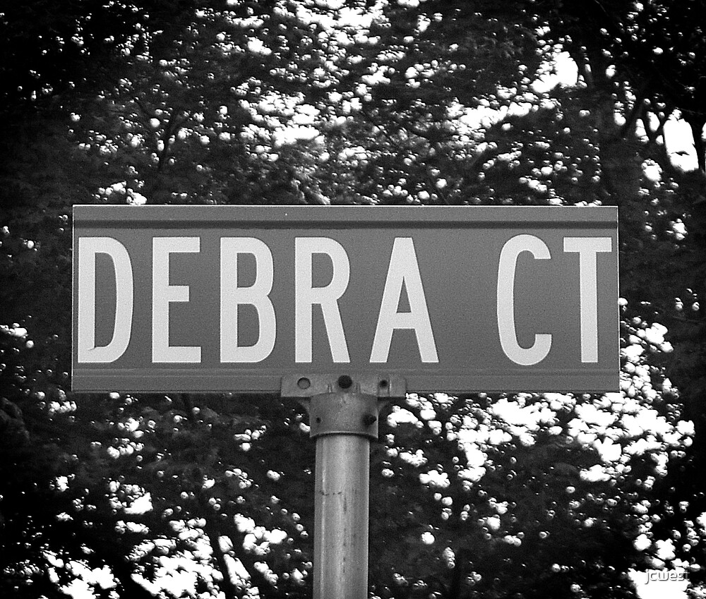 A Street Sign Named Debra by jcwest