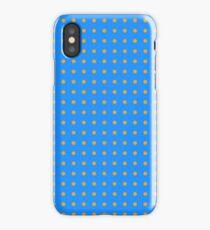 Dodger Blue Orange Pattern iPhone Case