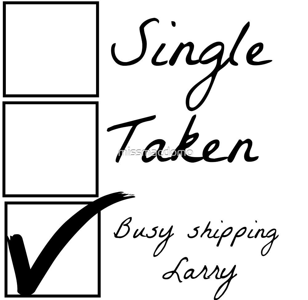 Single taken busy shipping larry by missmacdomo