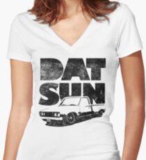 Datsun 620 Fatty Women's Fitted V-Neck T-Shirt