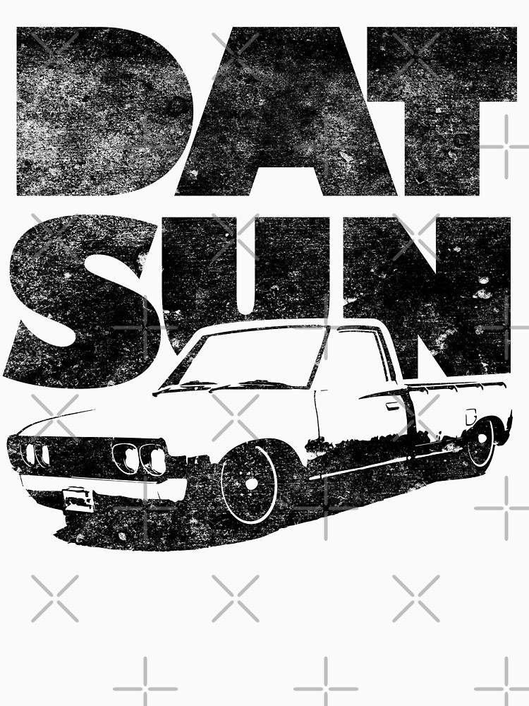 Datsun 620 Fatty Womens Fitted V Neck T Shirt By Pootermobile04