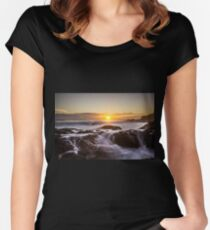 Flowing Fire... Women's Fitted Scoop T-Shirt