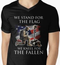 we stand for the flag we knew for the fallen Men's V-Neck T-Shirt