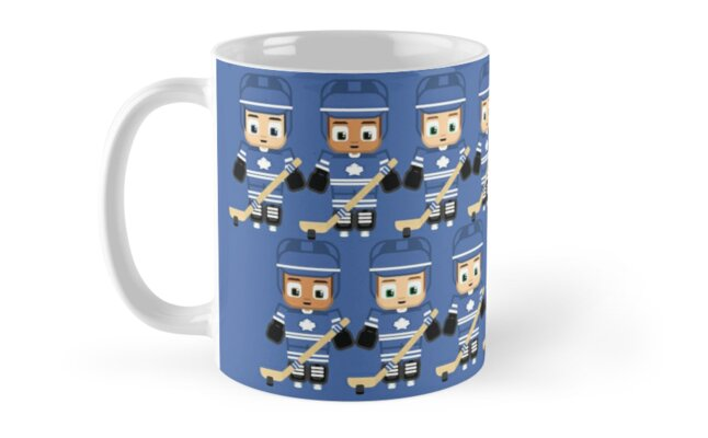 Ice Hockey Blue and White - Super cute sports stars by boxedspaper