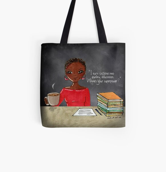 Teacher Coffee 4 All Over Print Tote Bag