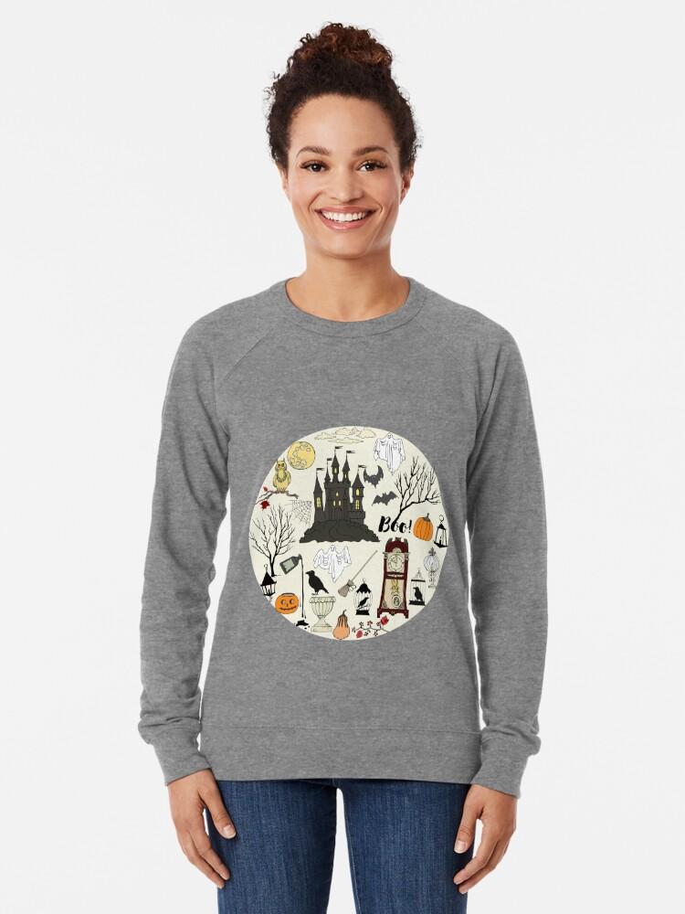 Alternate view of Halloween decorations Lightweight Sweatshirt