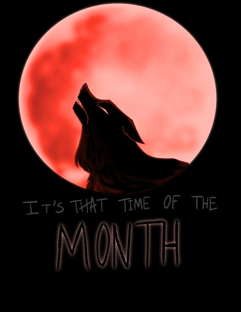Time of the Month (Blood Moon) by stoopidcrow