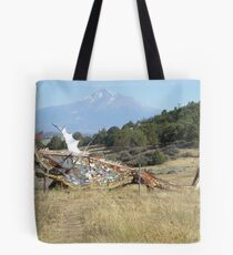 Metal Dragon of the Fields of Dreams Tote Bag