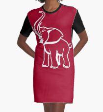 Delta Elephant Sigma Red Theta 2 Graphic T-Shirt Dress