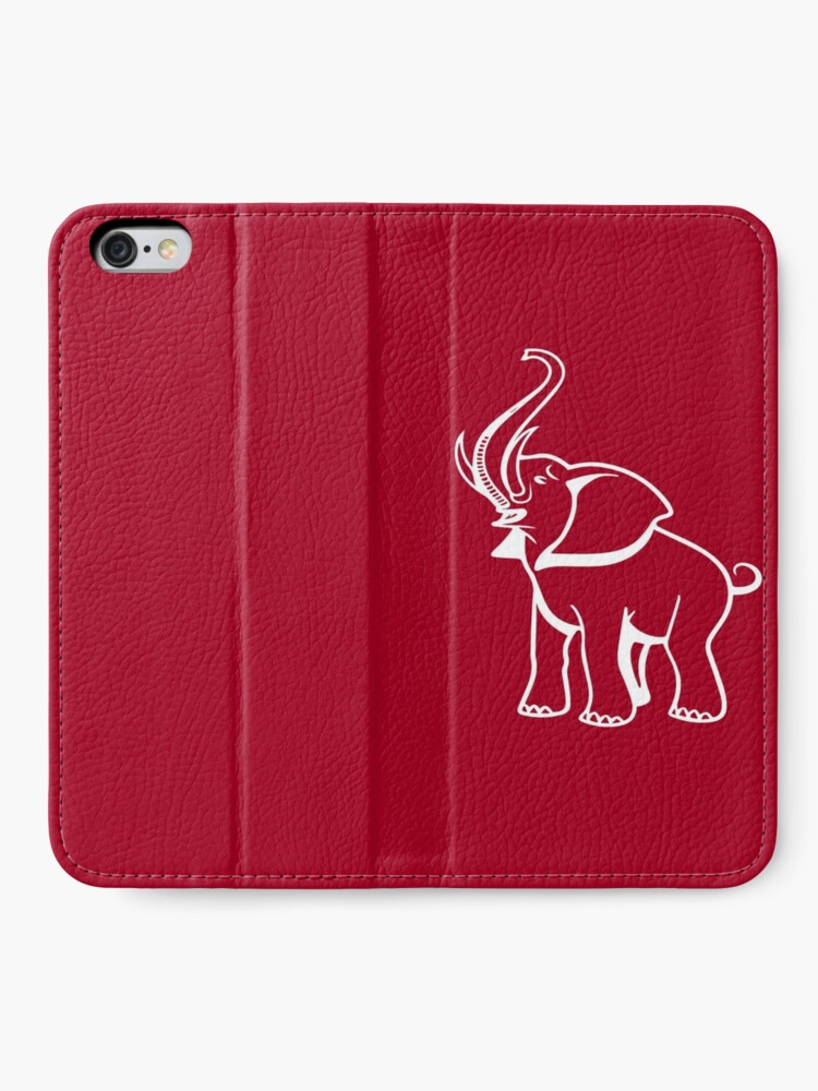 Alternative Ansicht von Delta Elefant Sigma Rot Theta 2 iPhone Flip-Case