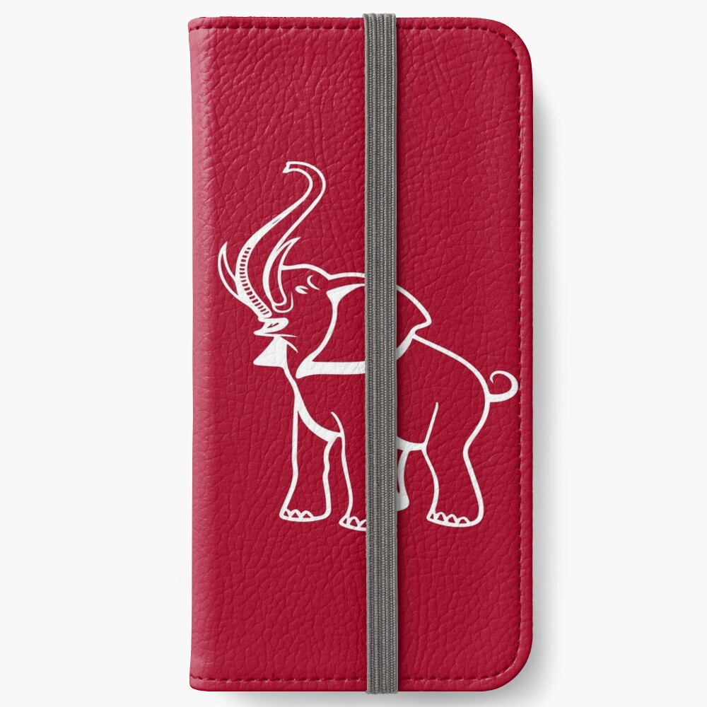 Delta Elefant Sigma Rot Theta 2 iPhone Flip-Case