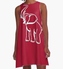 Delta Elephant Sigma Red Theta 2 A-Line Dress