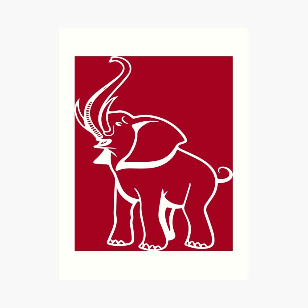 Delta Elefant Sigma Rot Theta 2 Kunstdruck
