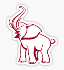 Delta Elephant Sigma Red Theta 2 Sticker