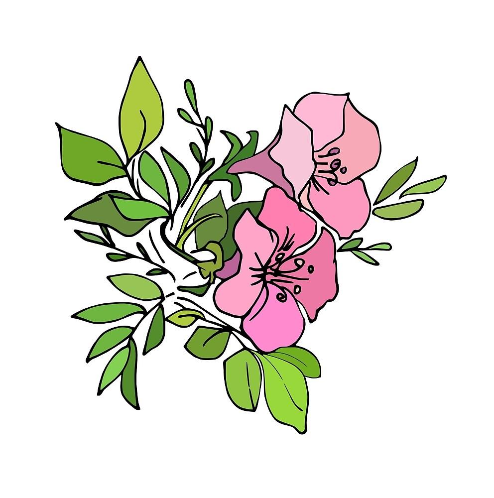 Azalea twin blooms by mariamsol