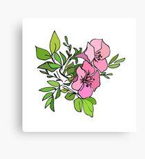 Azalea twin blooms Canvas Print