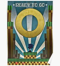 Sonic The Hedgehog - Art Deco Poster