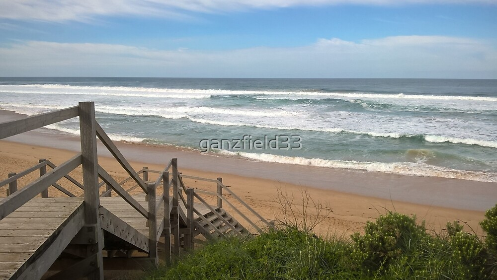 Stairs to Australian Surf Beach by ganzfield33