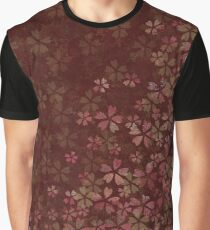Japanese national flower cherry blossoms red Graphic T-Shirt