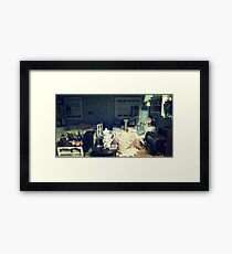 abandonded dollhouse Framed Print