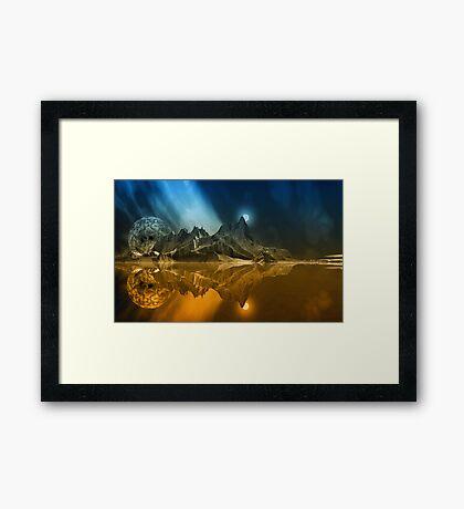 Tranquility Island. Framed Print