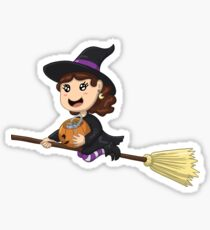 Trick or Treating Little Witch Girl Sticker